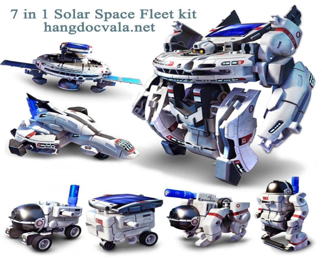 Đồ lắp ráp không gian năng lượng mặt trời 7 in 1 Mới - 7 in1 Space Fleet New