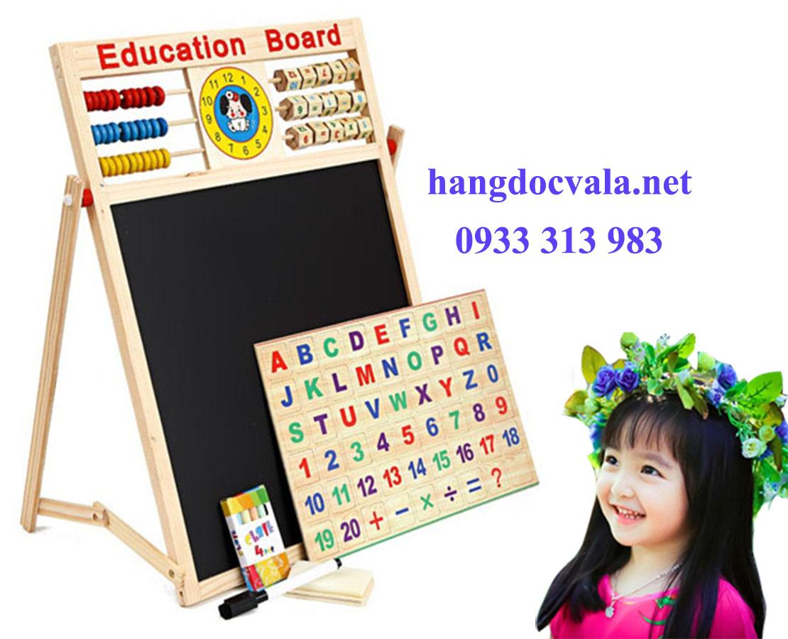 Bang ghep nam cham chữ và số cho trẻ