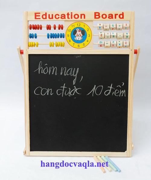 Bảng ghép chữ và số bằng gỗ cho bé