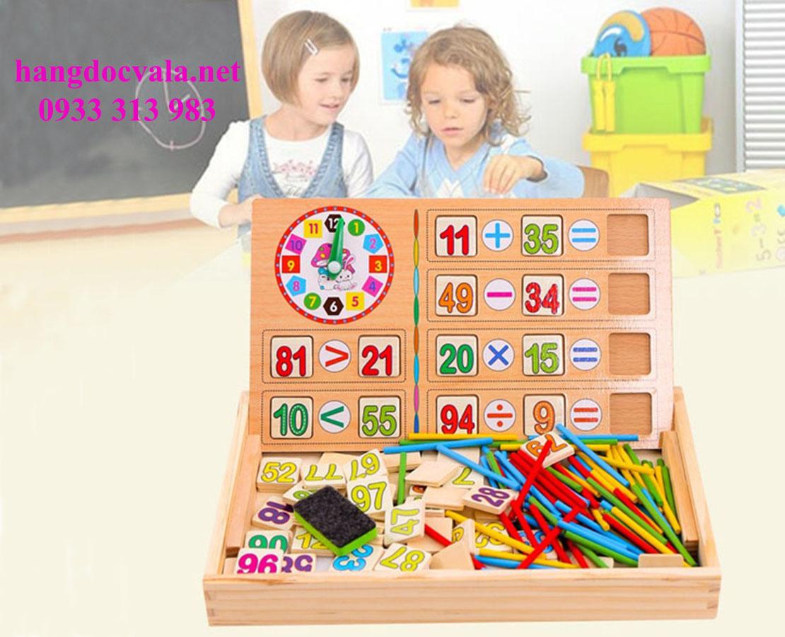 Bảng gỗ giúp bé học toán