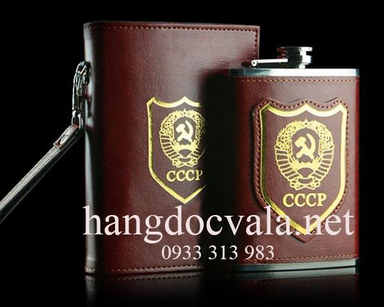 Bình sổ đựng rượu inox CCCP 500ml