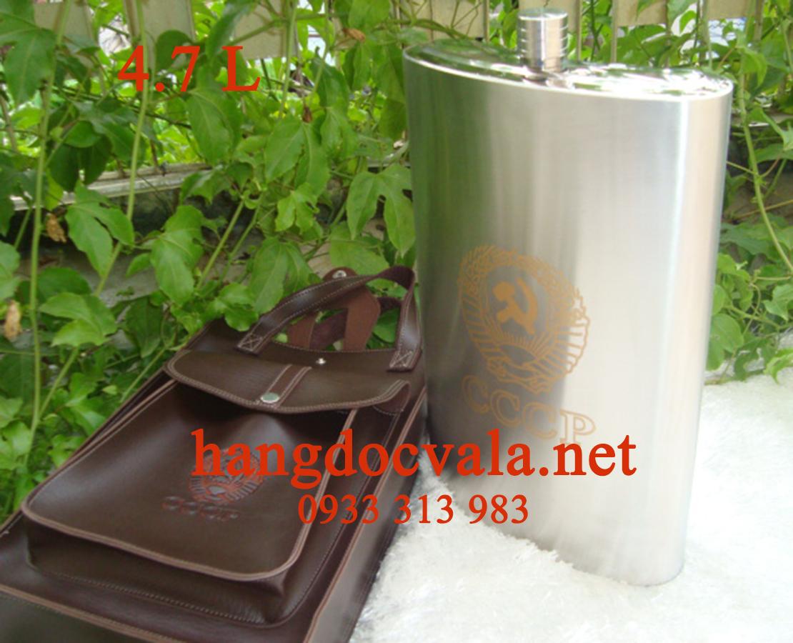 Binh dung ruou inox 3 lit