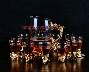 Bộ ly uống rượu cao cấp mạ vàng