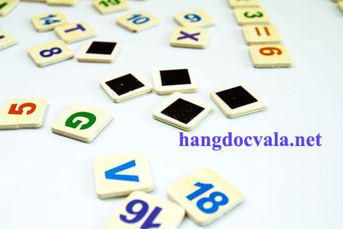 đồ chơi ghép chữ và số cho trẻ bằng gỗ
