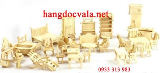 Mô hình trò chơi lắp ghép nội thất bằng gỗ