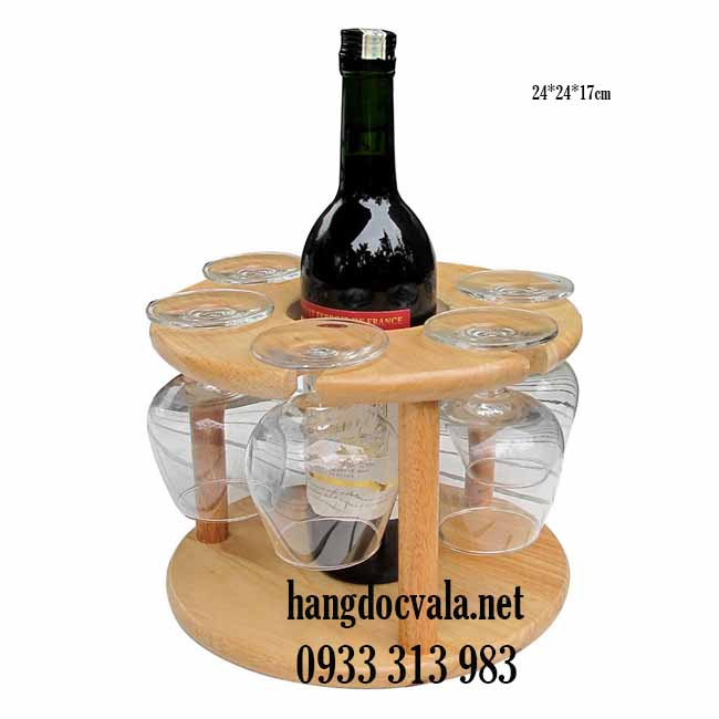 giá gỗ để rượu vang