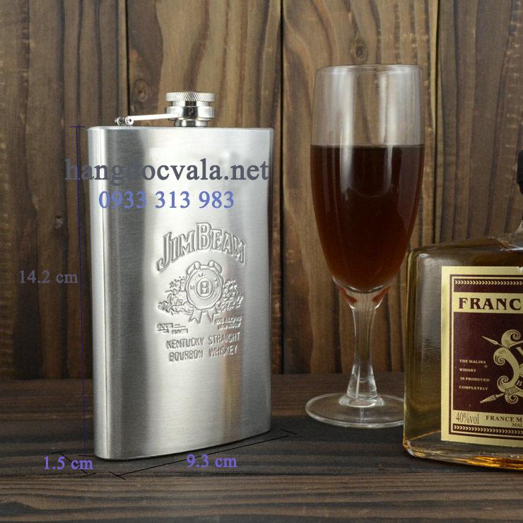 bình rượu inox Hip Flask giá rẻ