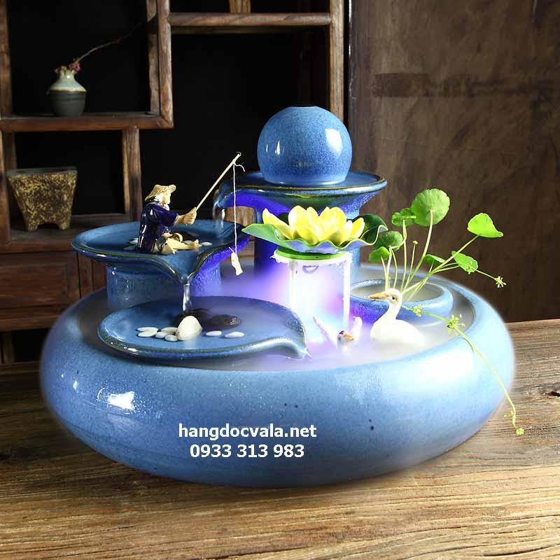 Thác nước phong thủy mini Tứ trụ ngọc bích