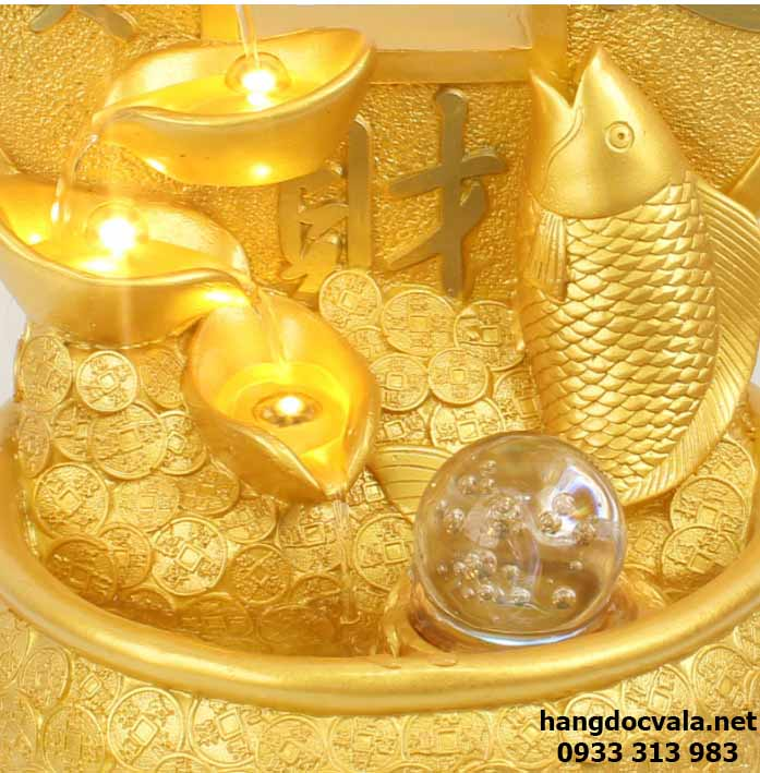 thác nước mini cá chép vàng
