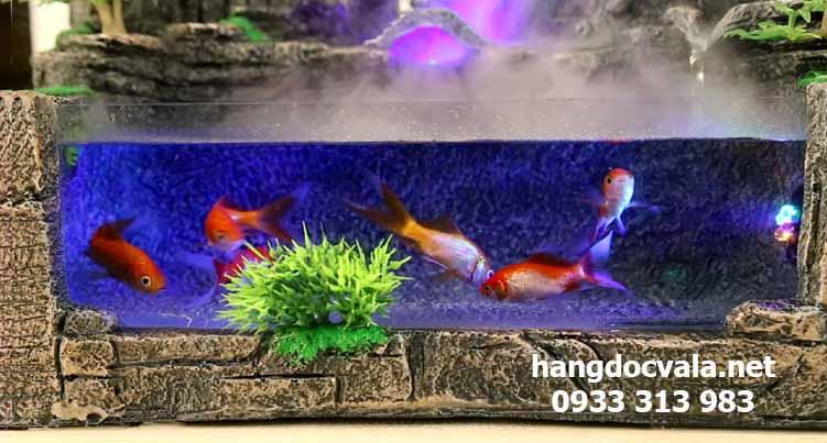 hòn non bộ mini nuôi cá để bàn