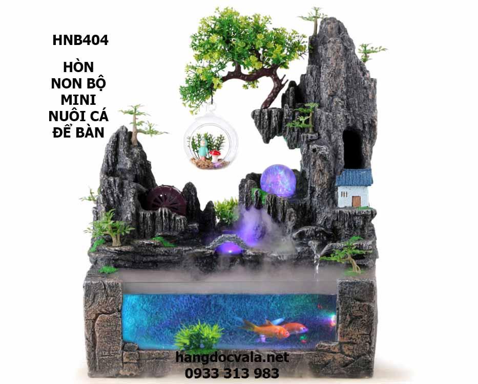 hòn non bộ mini nuôi cá để bàn có thác nước