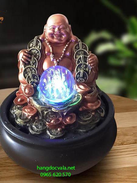 Hòn non bộ mini có thác nước-Phật Di lặc từ bi