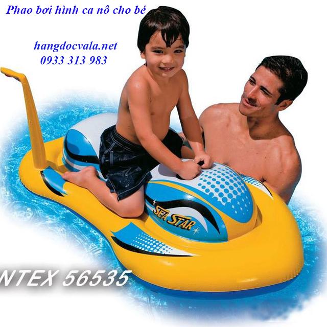 Phao bơi cao cấp hình ca nô cực ngầu độc lạ