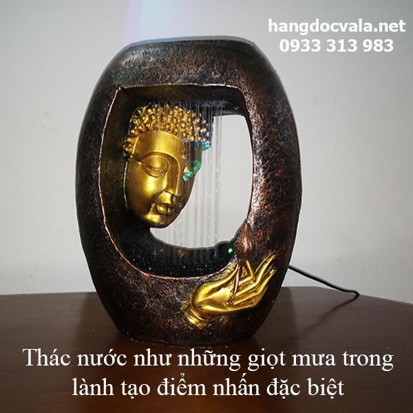 Thac nuoc phong thuy de ban Duc Phat thuong sen