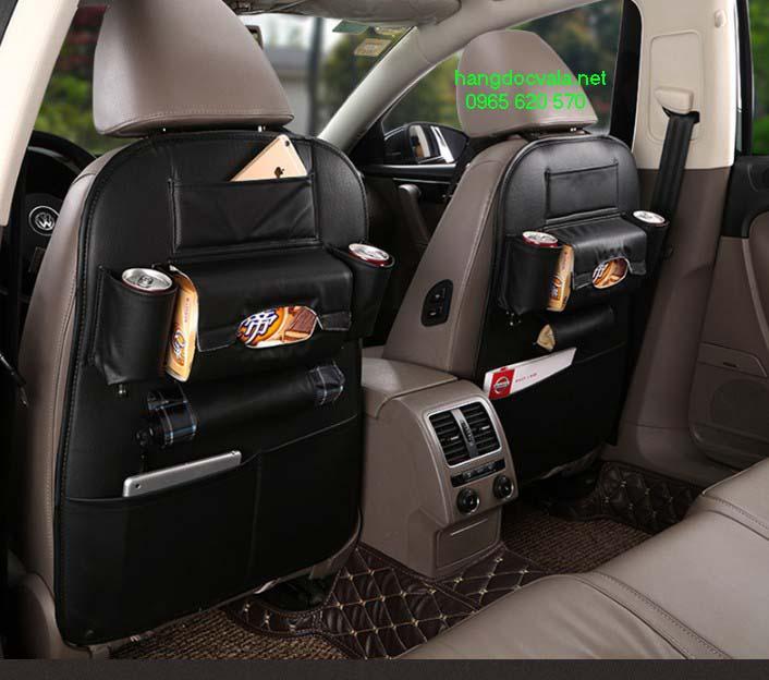 Túi đựng đồ treo sau ghế xe ô tô bằng da