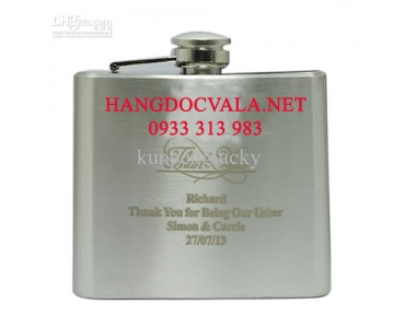 Bình inox mini Hip Flask chứa rượu Whisky 5oz (148ml)